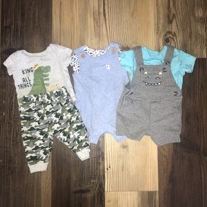 Three baby boy outfits